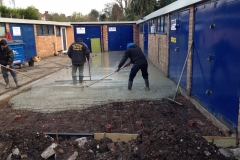concrete slab resurface parking area entrance Commercial property