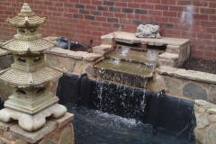 This is an example of a new water feature and a refurbishment of an existing pond carried out by Perfect ponds and landscapes.