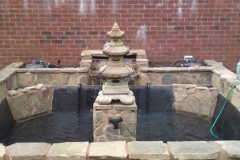 This is an example pond clean and refurbishment carried out by Perfect ponds and landscapes.